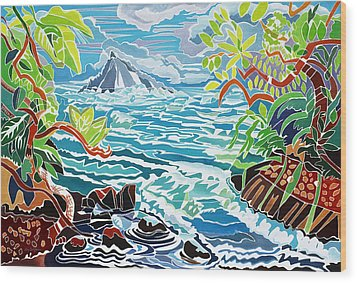 Alau Island Wood Print by Fay Biegun - Printscapes