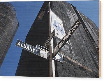 Albany And Washington Wood Print by Rob Hans