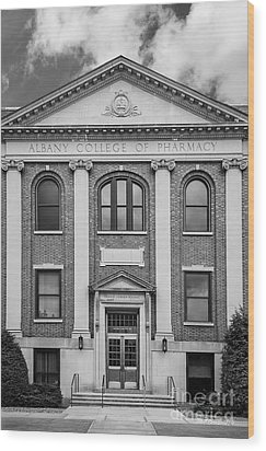 Albany College Of Pharmacy O' Brien Building Wood Print by University Icons