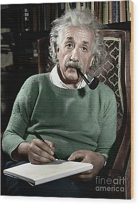 Albert Einstein Wood Print by Granger