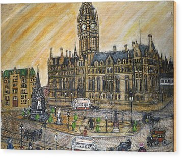 Albert Square Manchester 1900 Wood Print