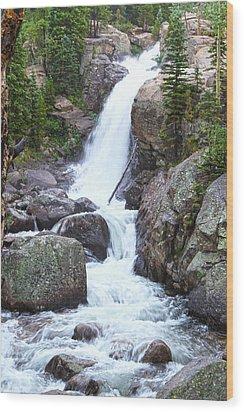 Alberta Falls Wood Print by David Yunker