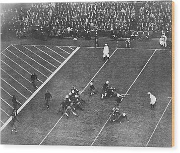 Albie Booth Kick Beats Harvard Wood Print by Underwood Archives