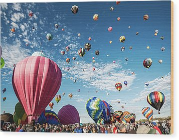 Albuquerque Balloon Fiesta Wood Print