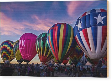 Albuquerque Hot Air Balloon Fiesta Wood Print