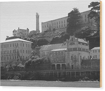 Alcatraz Island Wood Print by Bobby Miranda