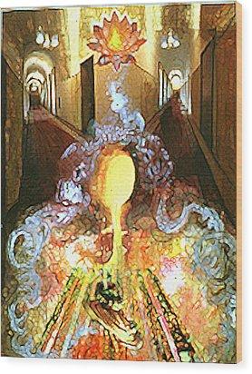 Alchemy Wood Print by Anne Cameron Cutri
