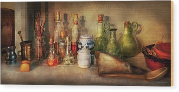 Wood Print featuring the photograph Alchemy - The Home Alchemist by Mike Savad