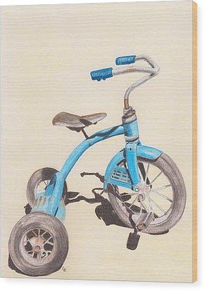 Alder's Bike Wood Print