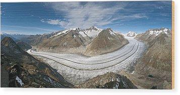 Aletsch Glacier, Switzerland Wood Print by Dr Juerg Alean