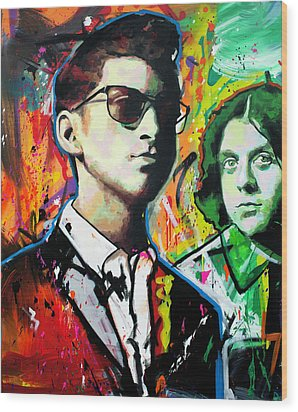 Wood Print featuring the painting Alex Turner by Richard Day
