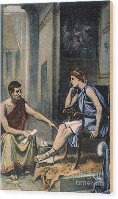 Alexander & Aristotle Wood Print by Granger