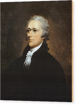 Alexander Hamilton Wood Print by War Is Hell Store