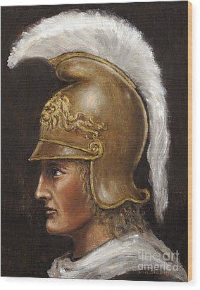 Alexander The Great Wood Print by Arturas Slapsys