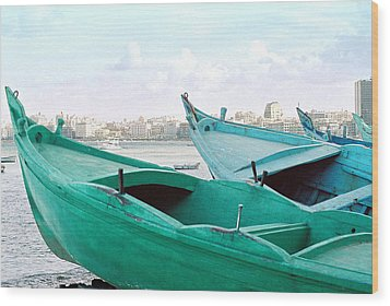 Wood Print featuring the photograph Alexandrian Boats by Cassandra Buckley