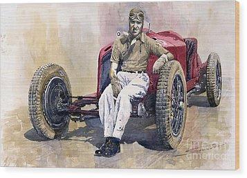 Alfa Romeo Monza Tazio Nuvolari 1932 Wood Print by Yuriy  Shevchuk