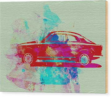 Alfa Romeo  Watercolor 2 Wood Print by Naxart Studio
