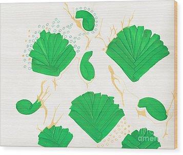 Algae Blooms Wood Print by Mary Mikawoz