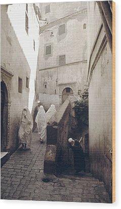Algiers Casbah Wood Print