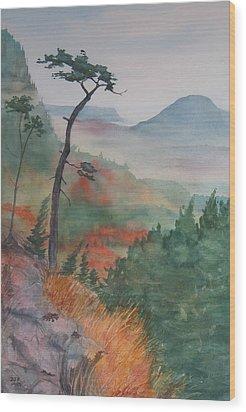 Algoma Morning  Wood Print by Debbie Homewood