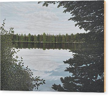 Wood Print featuring the painting Algonquin Park by Kenneth M  Kirsch