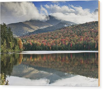 Algonquin Peak From Heart Lake - Adirondack Park - New York Wood Print by Brendan Reals