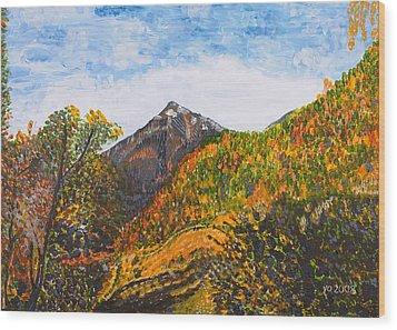 Algund View Wood Print by Valerie Ornstein