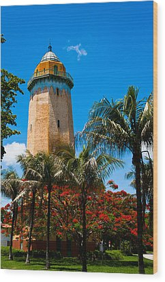 Alhambra Water Tower Wood Print