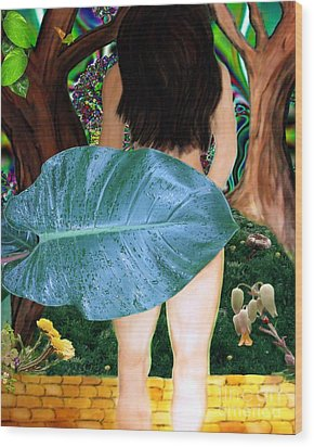 Alice Leaves Oz Wood Print