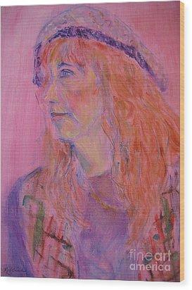Alice Wood Print by Marlene Robbins
