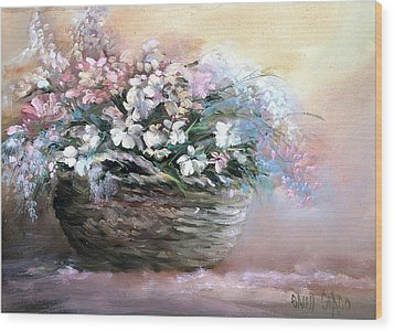 Alice's Bouquet Wood Print by Sally Seago