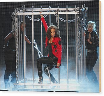 Alicia Keys Uncaged Wood Print by Steven Sachs