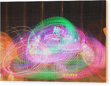 Alien Abduction Wood Print