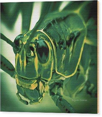 Alien Wood Print by DigiArt Diaries by Vicky B Fuller