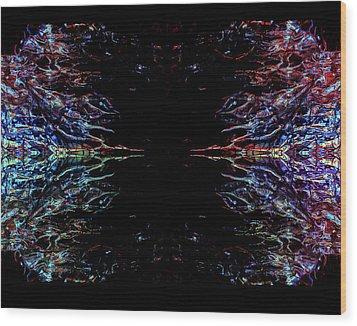 Alien Face Off Wood Print