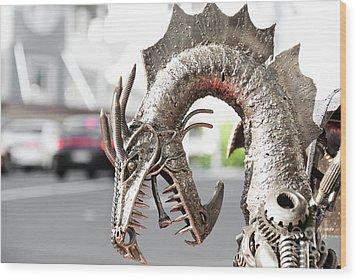 Alien Invasion.dragon. Wood Print by Yurix Sardinelly