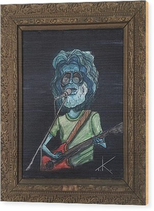 Alien Jerry Garcia Wood Print by Similar Alien