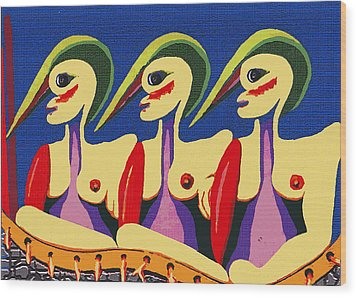 Alien Sisters Wood Print by Bill Thomson