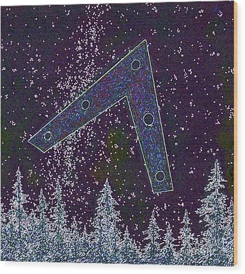Wood Print featuring the painting Alien Skies Ufo by James Williamson