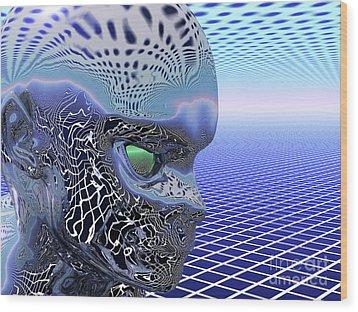 Alien Stare Wood Print