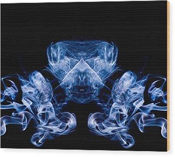 Alien Wood Print by Val Black Russian Tourchin