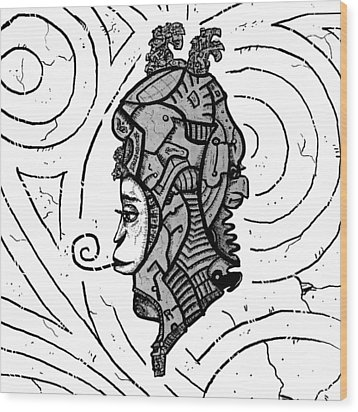Alien Woman Wood Print