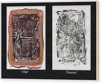 Wood Print featuring the painting Align To Emanate by Carol Rashawnna Williams