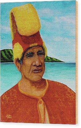 Alihi Hawaiian Name For Chief #295 Wood Print by Donald k Hall