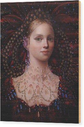 Alizarin Closeup Wood Print by Loretta Fasan