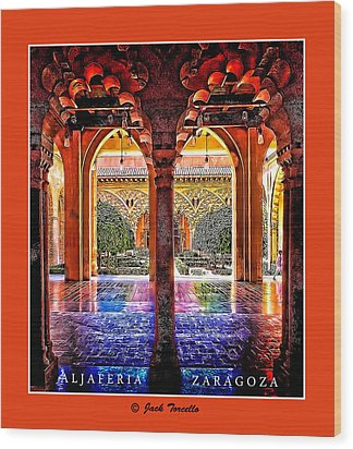 Aljaferia Coloratura Wood Print by Jack Torcello