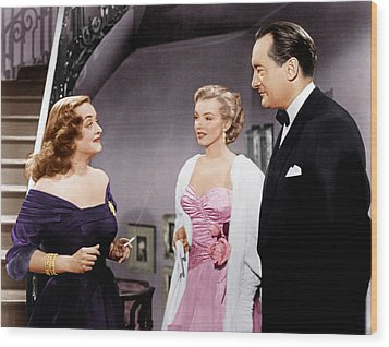 All About Eve, From Left Bette Davis Wood Print by Everett