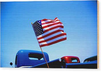All American Wood Print by Ralph Vazquez