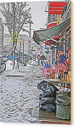 All American Snow Wood Print by Terry Cork