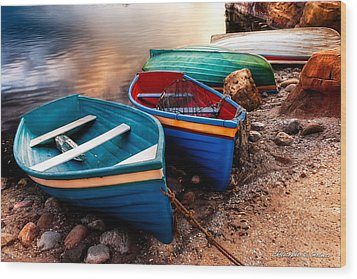 All Ashore Wood Print by Christopher Holmes